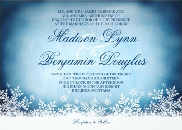 winter wonderland wedding invitations template