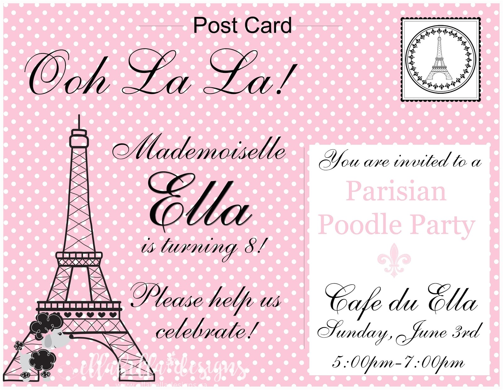 french pink poodle paris 8th birthday 22