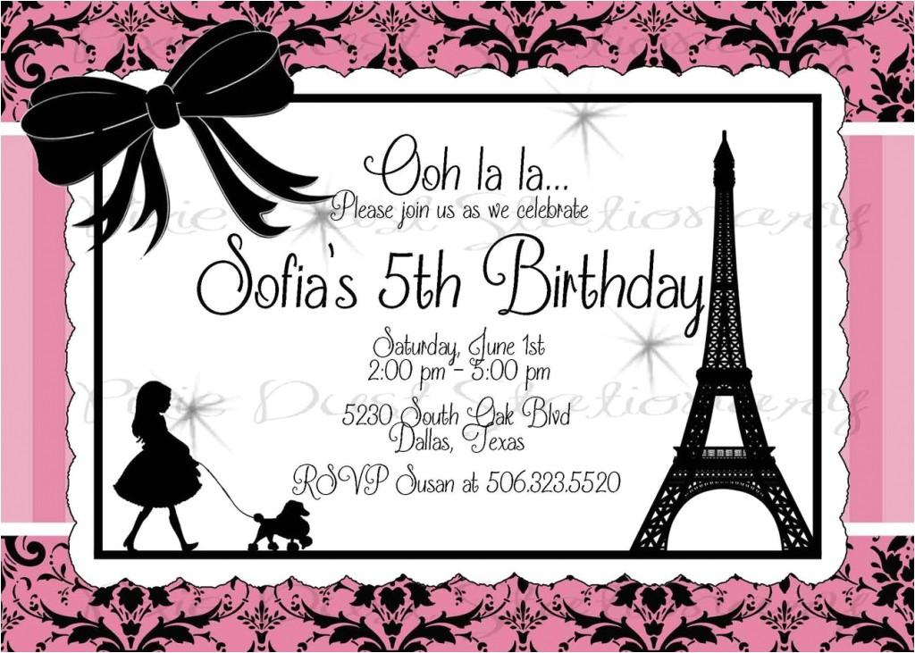 paris birthday invitation templates paris party invitations haskovo