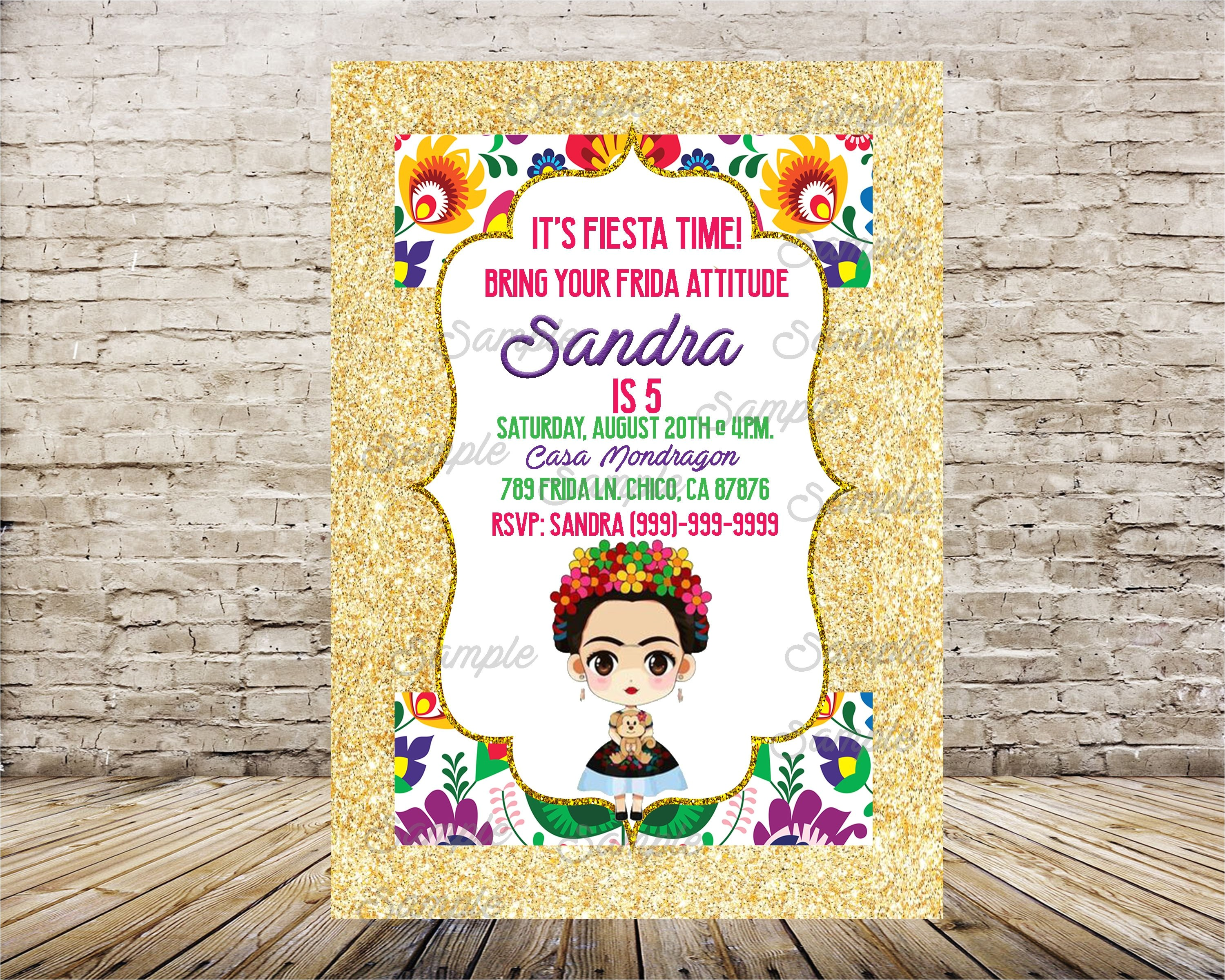 frida kahlo invitation