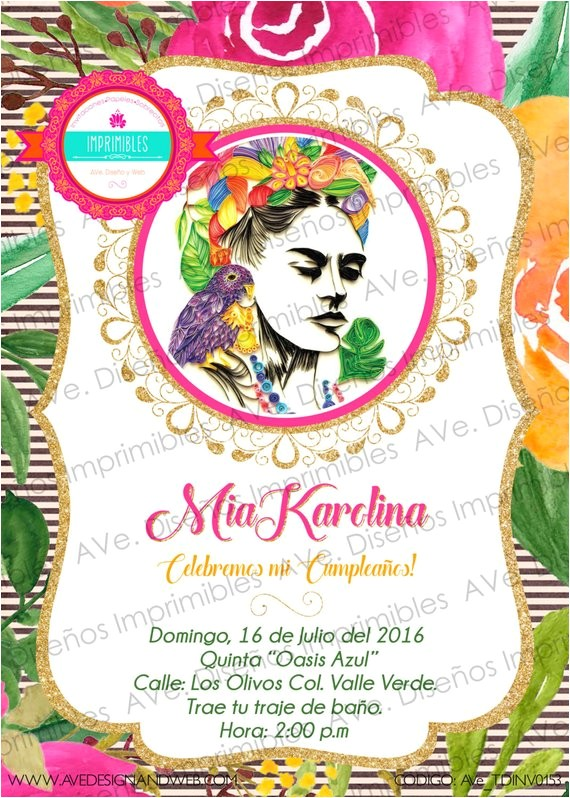 frida kahlo invitations frida kahlo