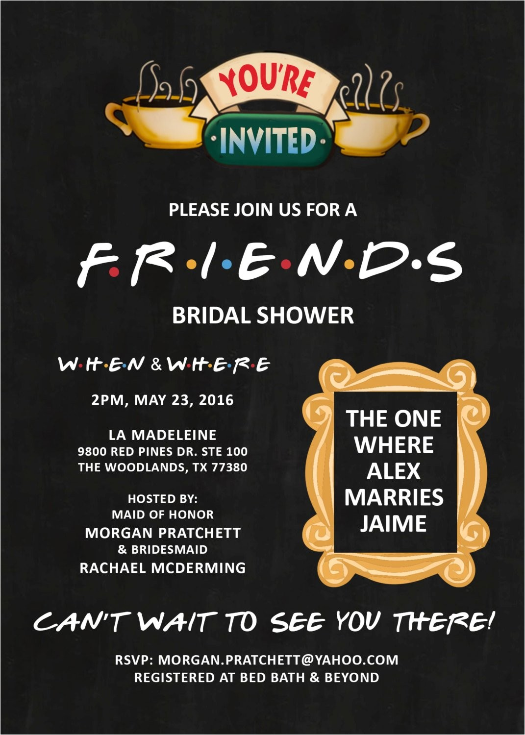 friends theme invitation