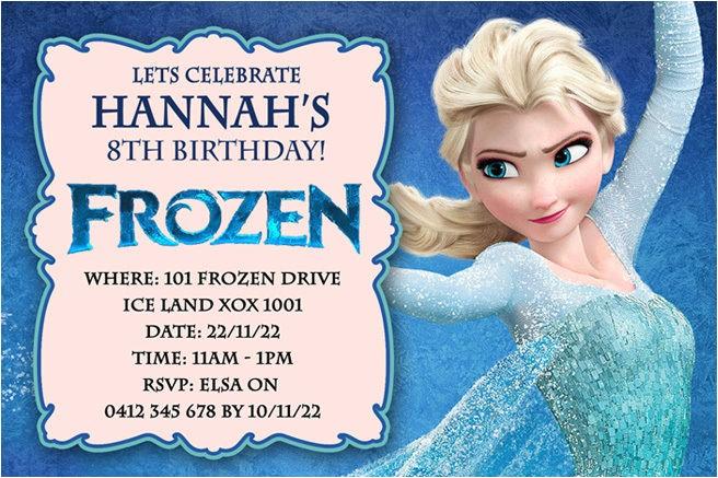 frozen birthday party invitations