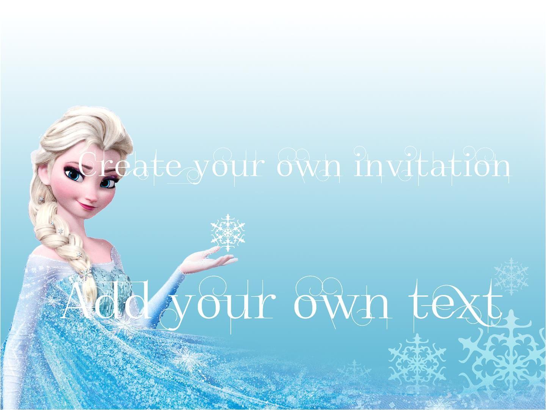 frozen party invitations