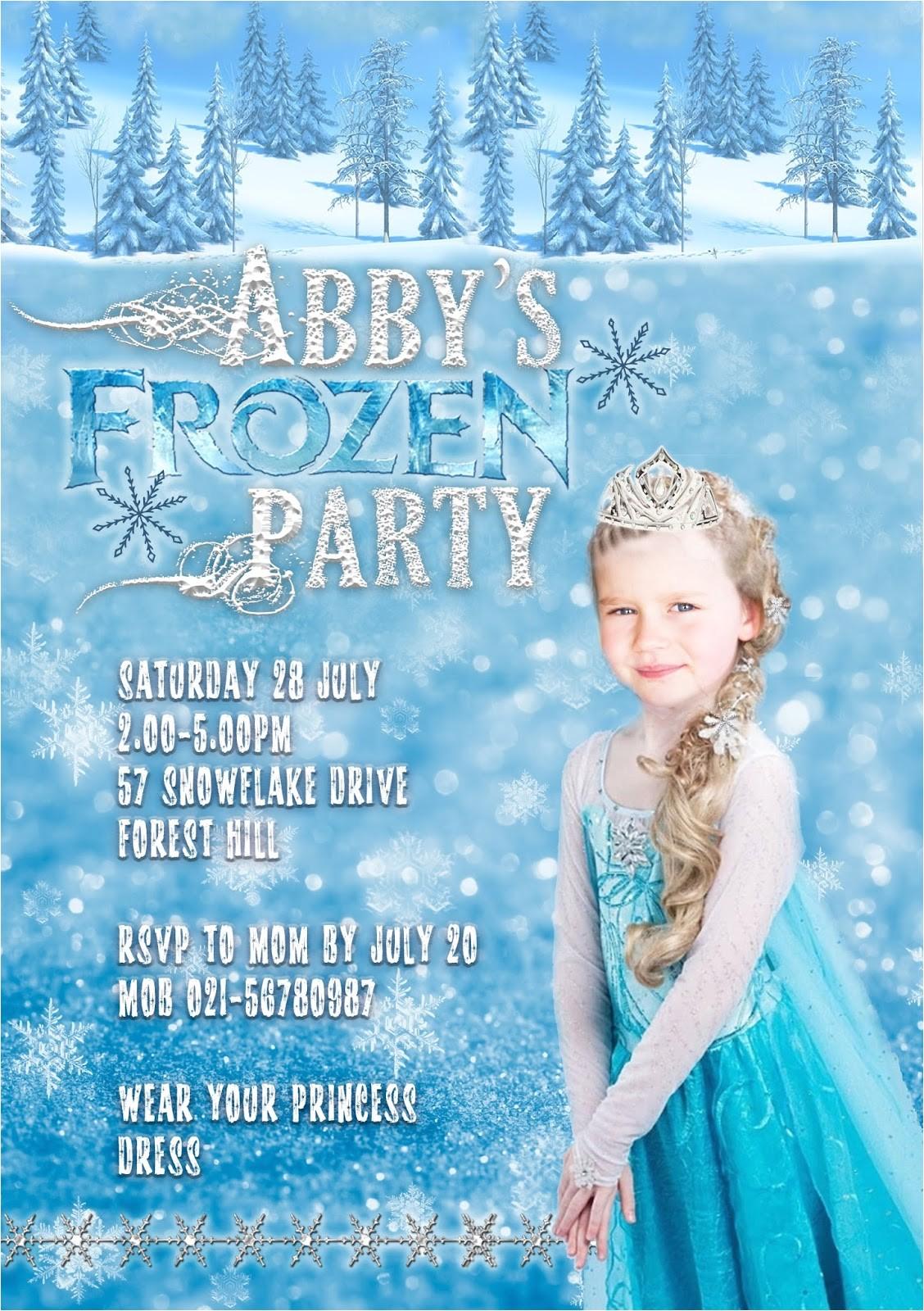 kids invitation frozen