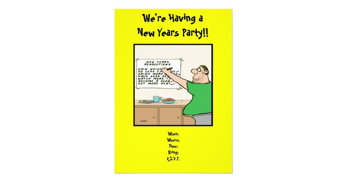 funny new years party invitation 13 cm x 18 cm invitation card 161141348537650664