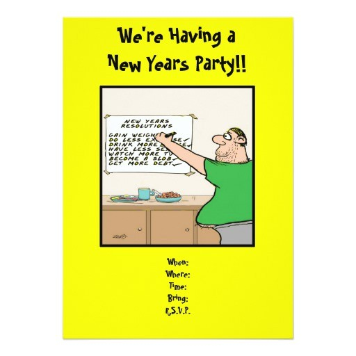 Funny New Years Party Invitation Funny New Years Party Invitation Zazzle