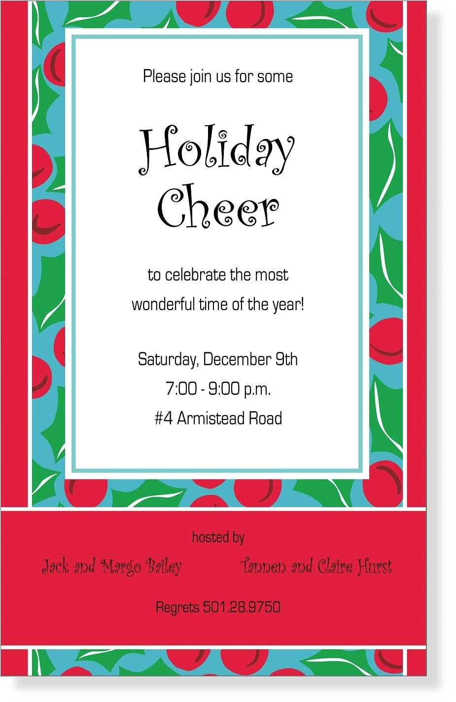 funny christmas invite wording