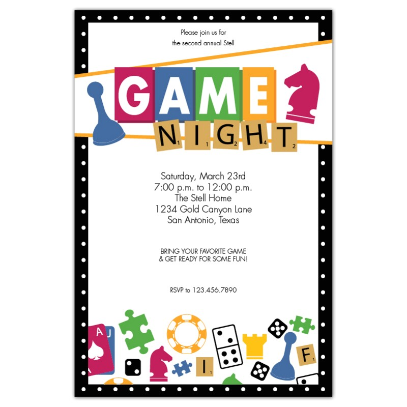 Game Night Party Invitations Game Night Expressionery