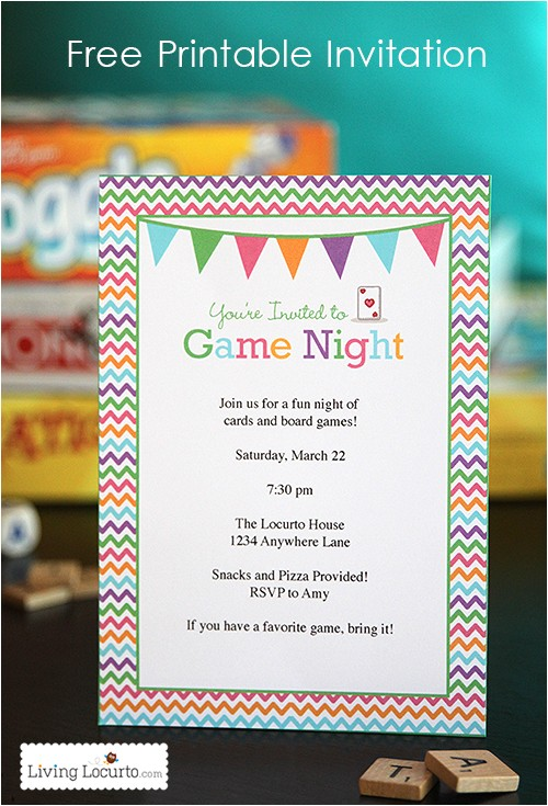 party ideas game night