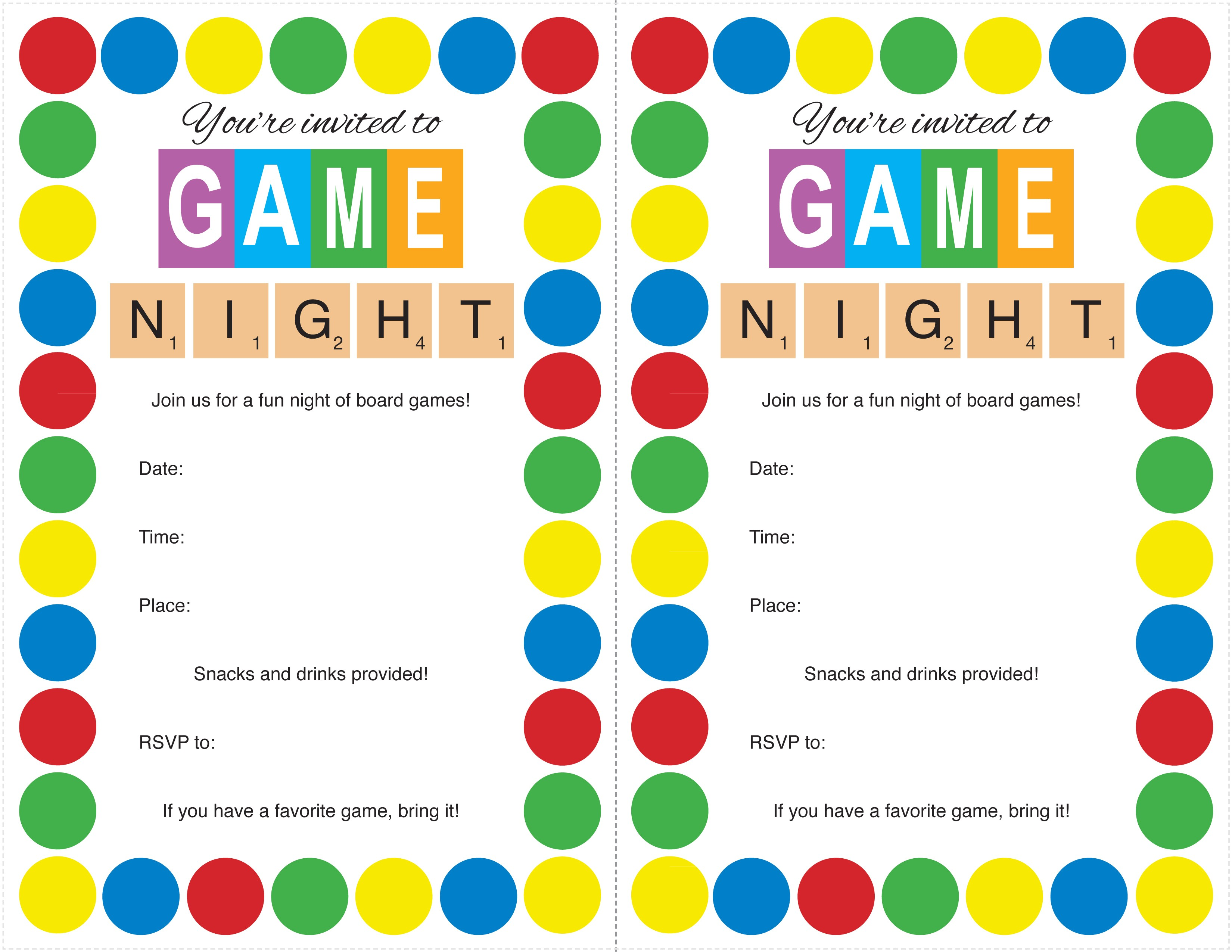 host game night party