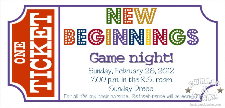 new beginnings game night