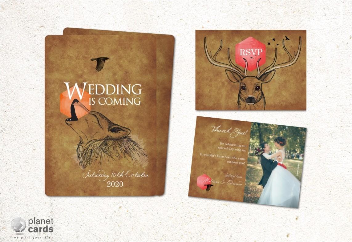 new medieval inspired wedding stationery
