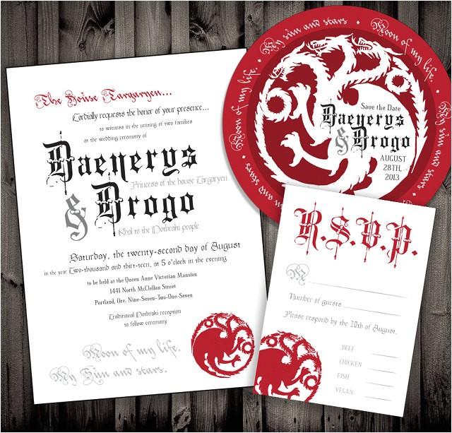 Game Of Thrones Wedding Invitations Not Surprised Game Of Thrones Wedding Invitations