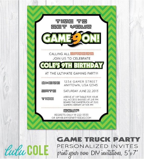 video game party ideas game truck party