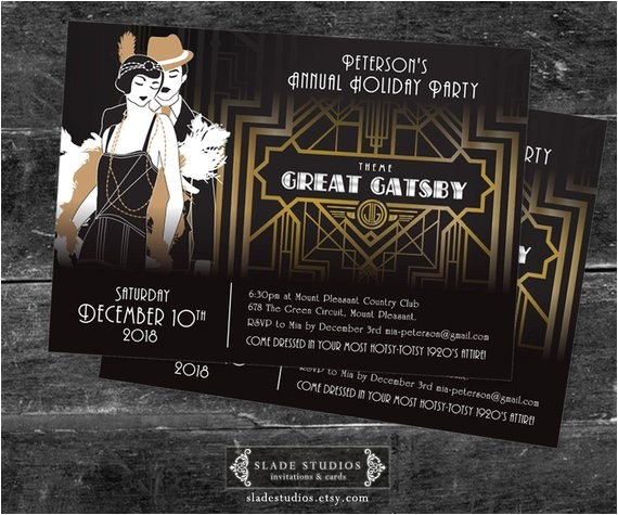 great gatsby holiday party christmas