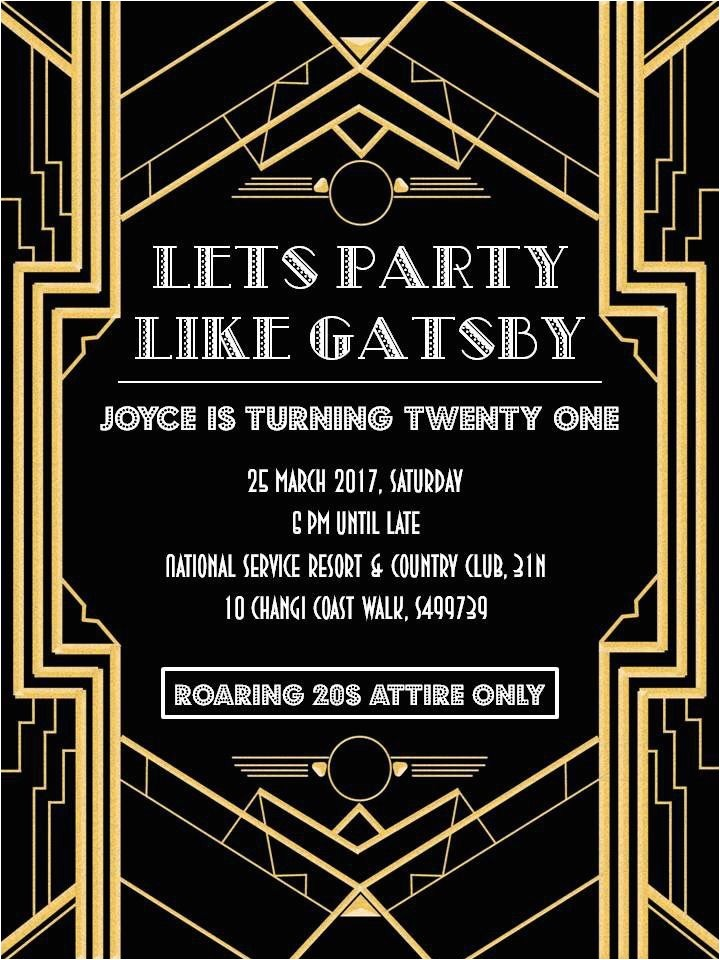 gatsby party invitation for invitations your party invitation templates by implementing appealing motif concept 8