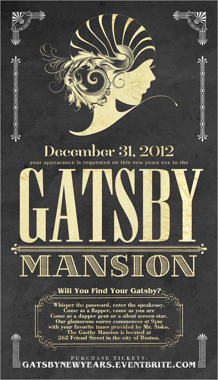 great gatsby printables party invitations ideas