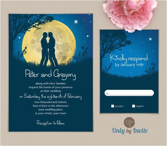sample gay wedding invitation