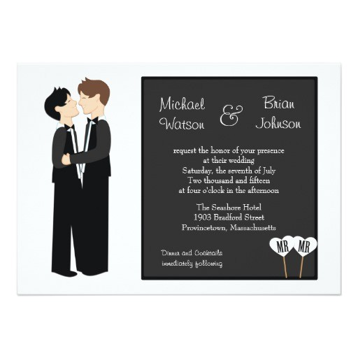 gay tuxedo wedding invitation 161556248485868819