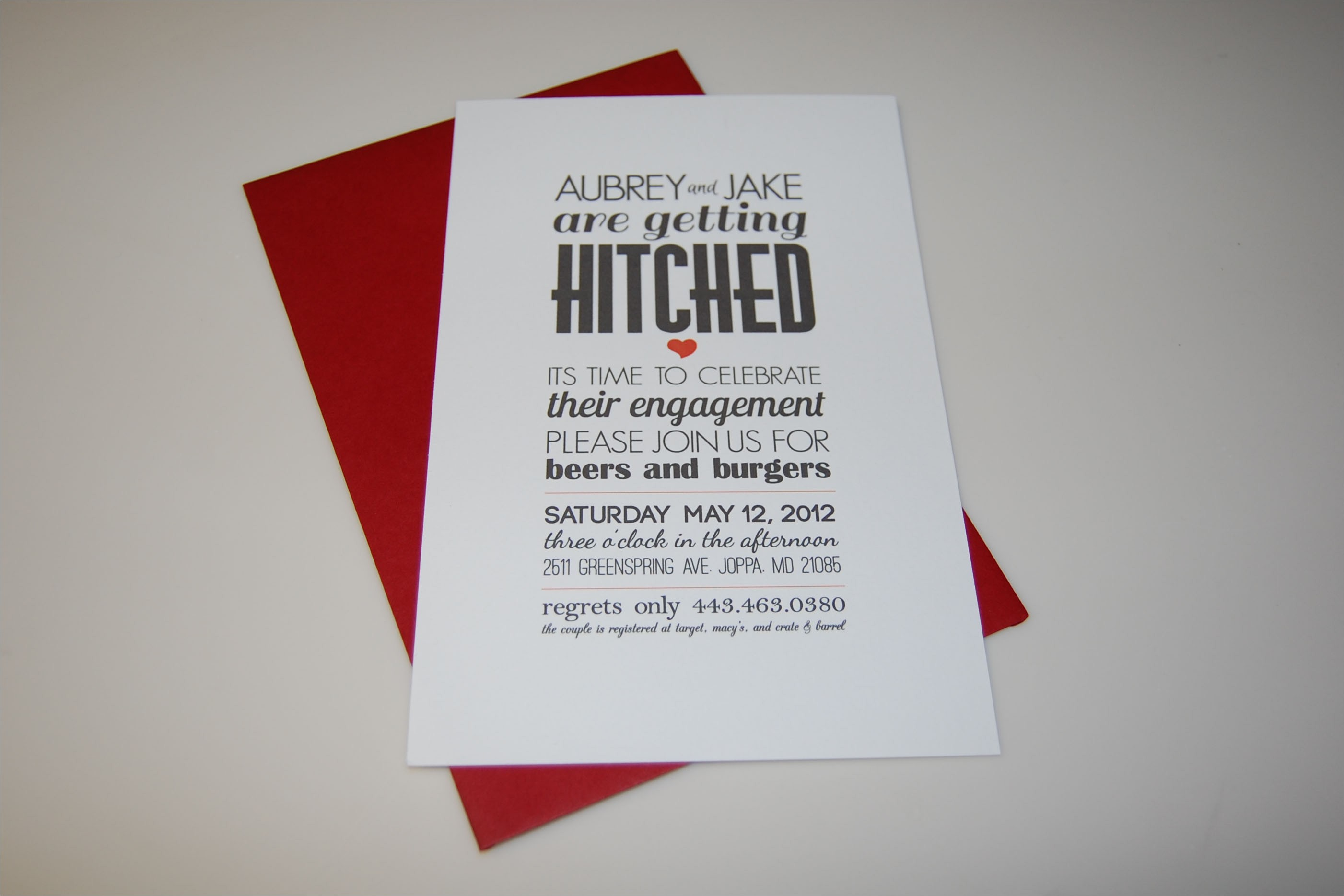 getting hitched engagement party invites and favors hello honey