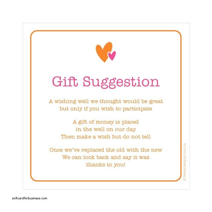 wedding invitation gift wording