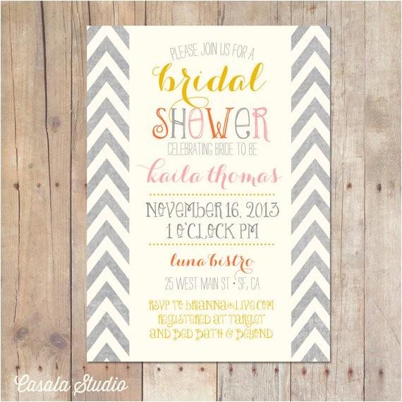bridal shower invitations requesting