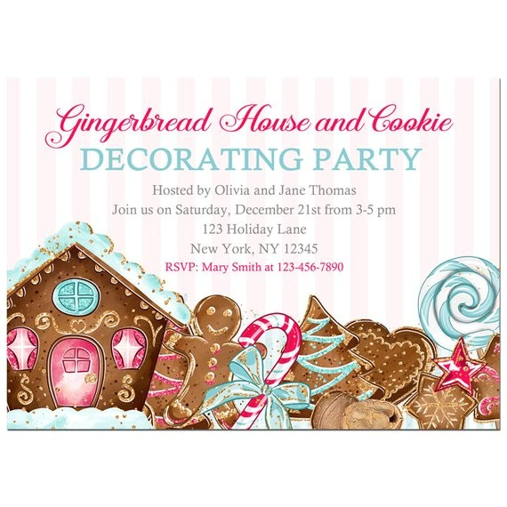 gingerbread house cookie decorating invitation printable 2