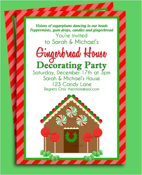 gingerbread house invitation printable