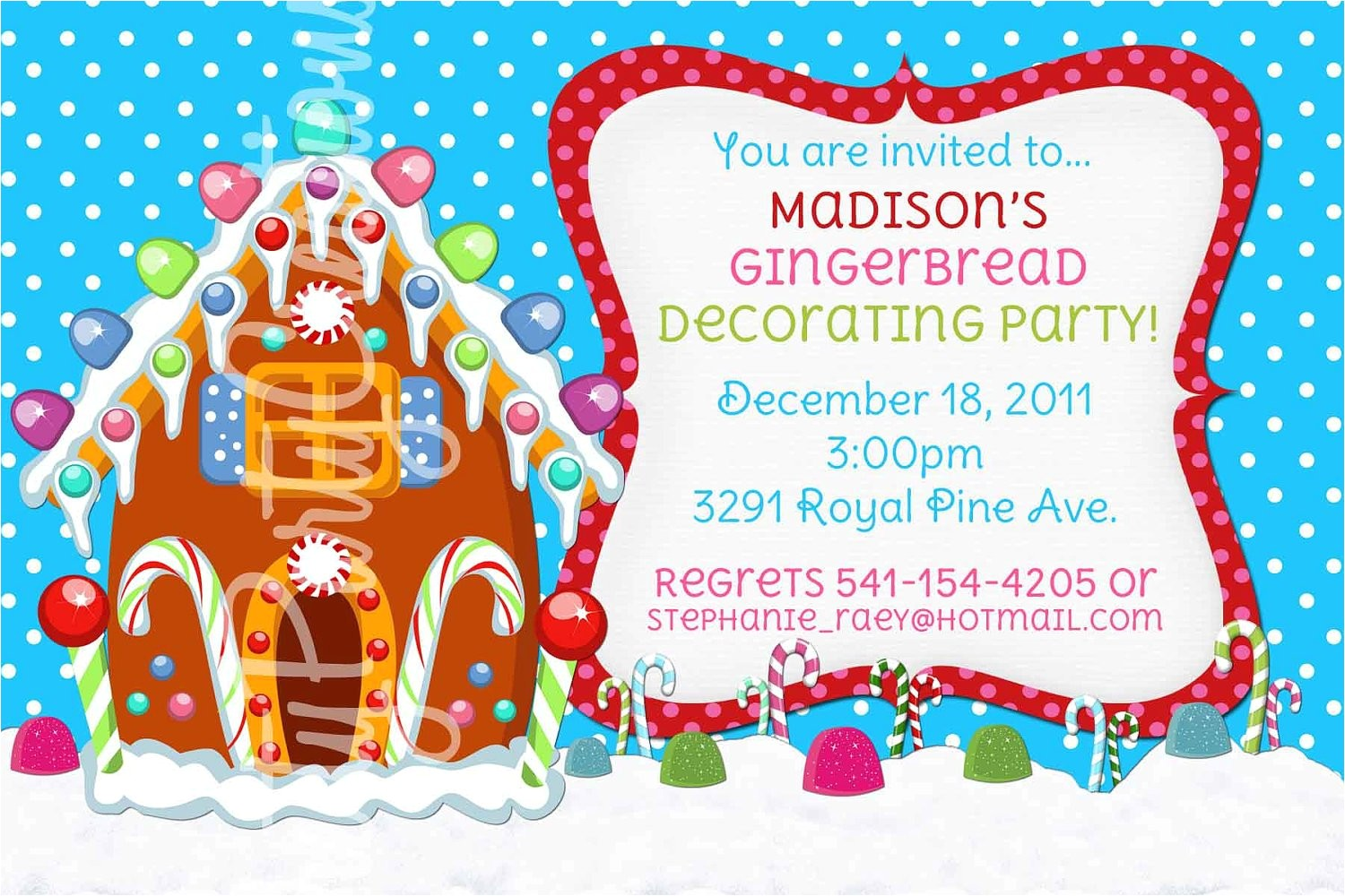 gingerbread house invitation you print