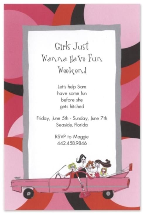 invitations for bdays and girls night