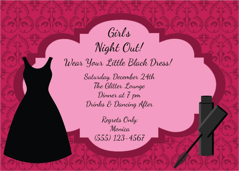 ladies night invitation wording