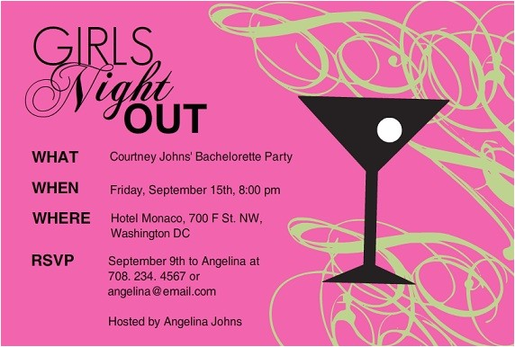 ladies party invitation wording girls night l party invitations purpletrail