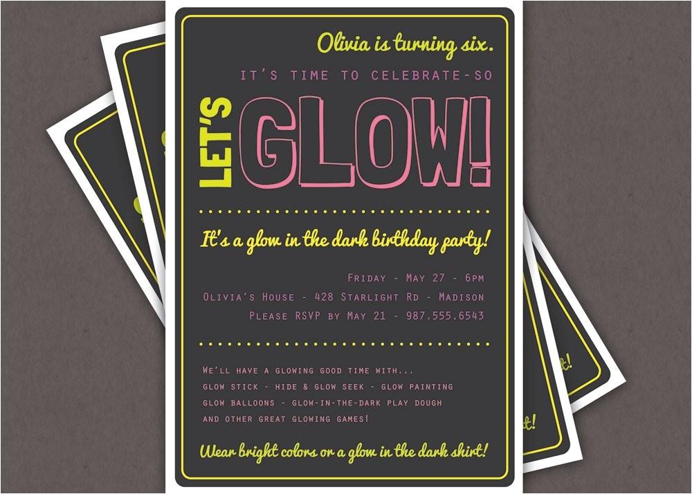 glow in the dark theme birthday party