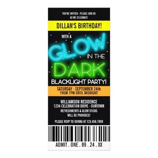 glow sticks invitations