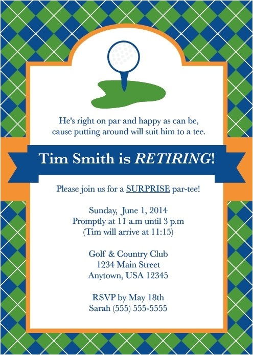 golf party invitations template