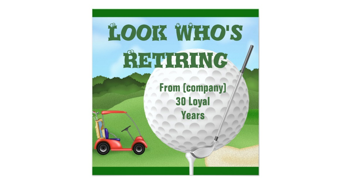 golf retirement invitations template 161707412234979195