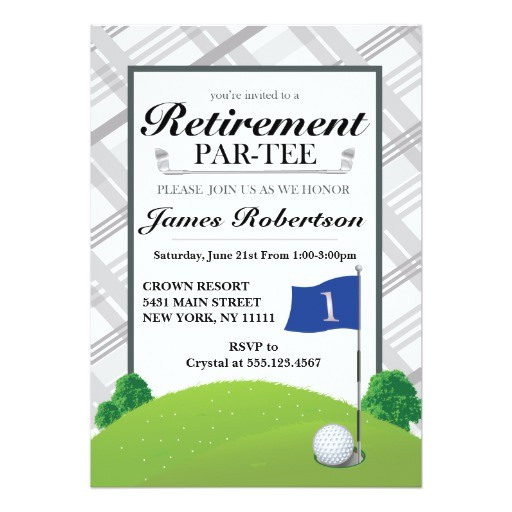 golf retirement party invitations 256700994332976613
