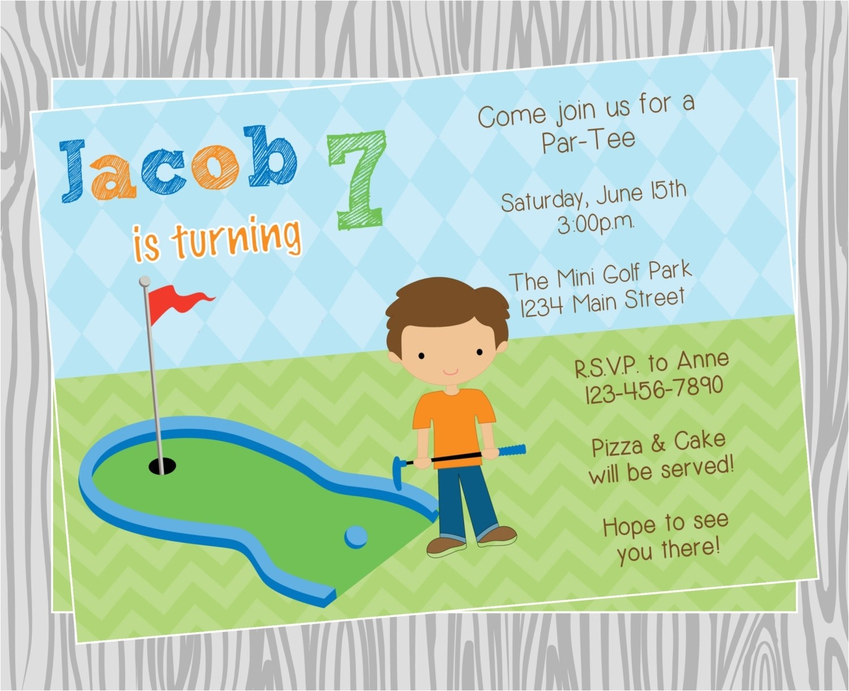 golf birthday invitations template