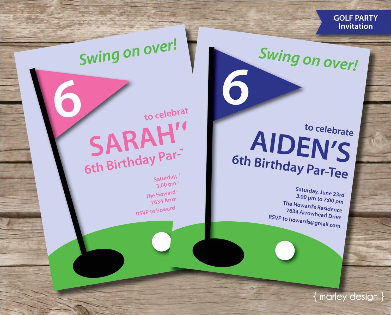 golf invitation printable golf party
