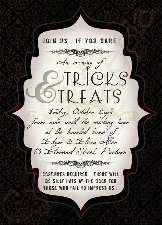 printable halloween party invitation 5x7
