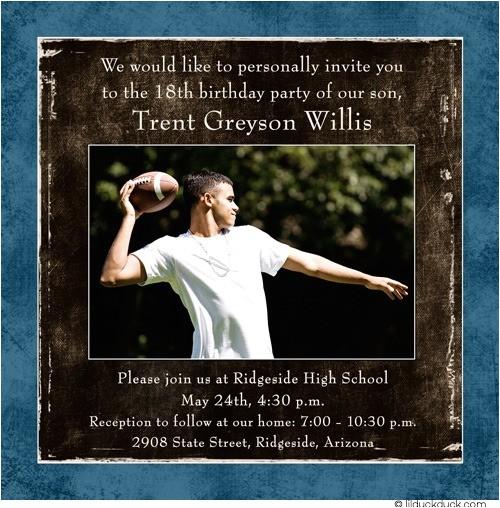 photo teen guy birthday invitations