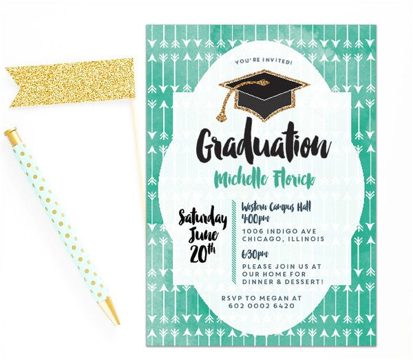 Graduation Dinner Party Invitation Wording 45 Graduation Invitation Designs Templates Psd Ai