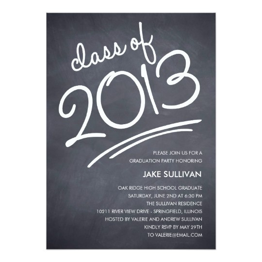 Graduation Invitation Writing Chalkboard Writing Graduation Invitation Zazzle Com