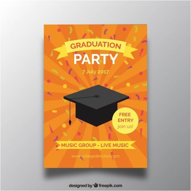 orange graduation party invitation 1147651