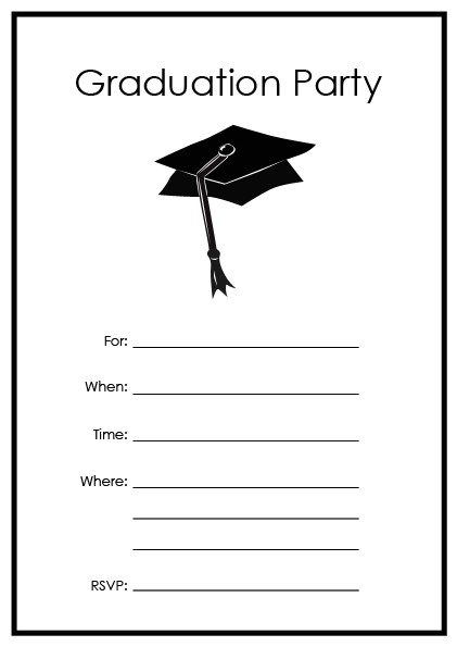 printable graduation party invitations