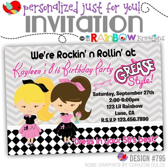 795 diy 1950s grease style party