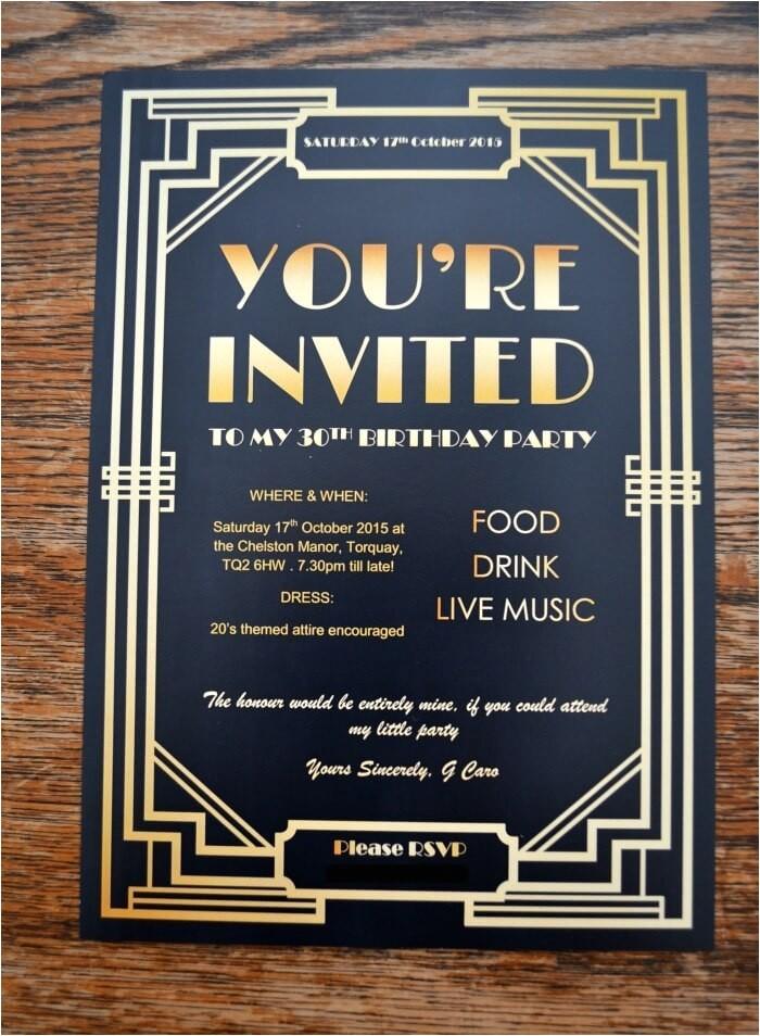 gatsby party invites