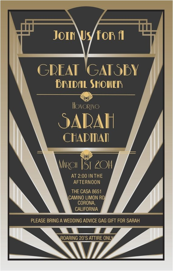 great gatsby invitations gatsby style
