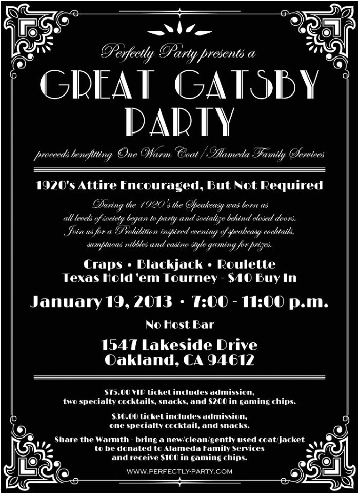 Great Gatsby Party Invitation Wording Lost In Translation why I Won 39 T Be attending Your Quot Gatsby